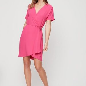 Aritzia Wrap Dress - Pink - Brand New